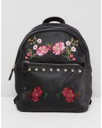 Stradivarius - Embroidered Backpack - Lyst