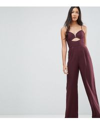ASOS - Tailored Jumpsuit With Cut Out Detail And Wide Leg - Lyst