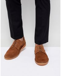 SELECTED - Suede Derby Shoes - Lyst