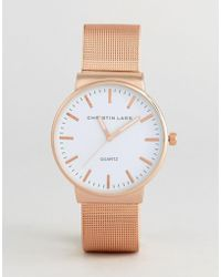 Christin Lars - Rose Watch With Round Dial With White Dial - Lyst
