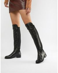 Carvela Kurt Geiger - Leather Knee High Flat Boot - Lyst