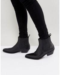 ALDO - Etigovia Leather Chelsea Boots In Black - Lyst