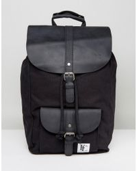 Forbes & Lewis - Leather Lincoln Backpack In Black - Lyst