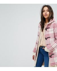 Gloverall - Exclusive Classic Mid Length Duffle In Pink Check - Lyst