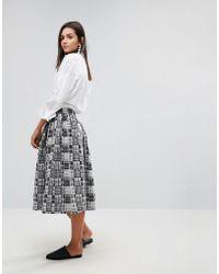 YMC | Patchwork Midi Skirt | Lyst