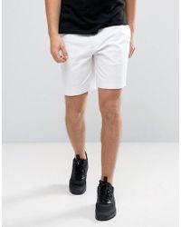 ASOS - Tailored Skinny Chino Shorts In White - Lyst