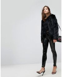 Blank NYC - Vinyl Trouser With Lace Up Front - Lyst