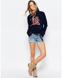 Hollister - Light Wash Denim Shorts - Lyst