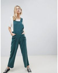 ASOS - Minimal Dungaree In Modal With Popper Detail - Lyst
