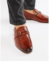 Ted Baker - Daiser Bar Loafers In Tan Leather - Lyst