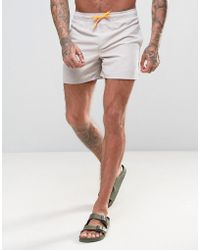 D-Struct - D Struct Swim Shorts With Neon Draw String - Lyst