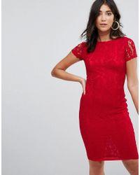 AX Paris - Crochet Lace Midi Dress - Lyst