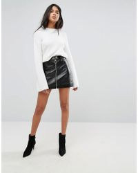 Ivyrevel - Pu Mini Skirt With Zip Front - Lyst