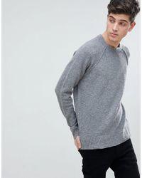 Mango - Man Textured Knit Jumper In Grey - Lyst