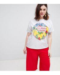 ASOS - Asos Design Curve T-shirt With Limonada Print - Lyst