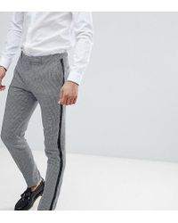 Heart & Dagger - Skinny Cropped Trousers With Insert Stripe - Lyst