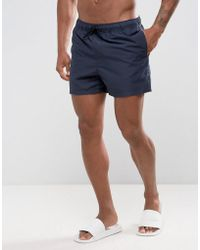 ASOS | Swim Shorts In Navy Short Length | Lyst