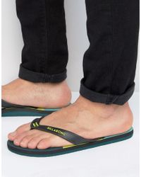 Billabong - Cut It Flip Flops - Lyst