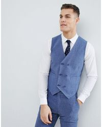 DESIGN Super Skinny Suit Waistcoat In Provence Blue - Blue Asos Cheap Sale Hot Sale Free Shipping Countdown Package 2qIMtR