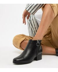 London Rebel - Side Zip Heeled Ankle Boots - Lyst
