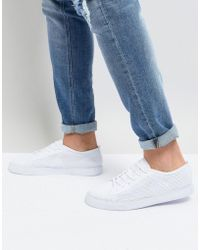 ASOS - Lace Up Plimsolls In White Mesh - Lyst