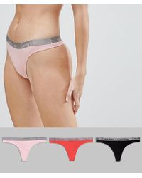 Calvin Klein - Radiant Cotton 3 Pack Thong - Lyst