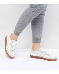 Asics - Viccka Court Trainers In Off White With Gum Sole - Lyst