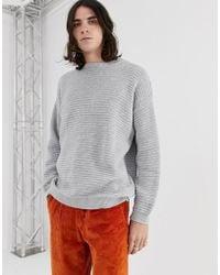 d7cc4b99aef08f ELEVEN PARIS Arran Knit Jumper in White for Men - Lyst