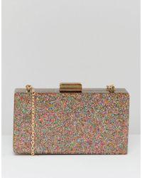 Claudia Canova - Glitter Case Clutch Bag With Detachable Chain - Lyst