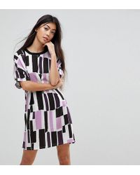 Noisy May Petite | Graphic Print T-shirt Dress | Lyst