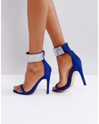 Truffle Collection | Bling Cuff Heel Sandal | Lyst