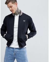 Fred Perry - Reissues Made In England Tennis Bomber Jacket In Black - Lyst