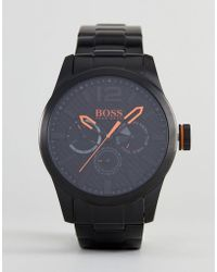 BOSS Orange - By Hugo Paris Watch With Black Dial - Lyst
