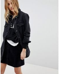 New Look - Longline Denim Jacket - Lyst