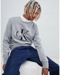 Calvin Klein - Bold Chest Print Jumper - Lyst