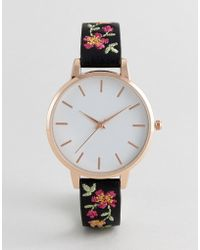 New Look - Embroidered Strap Watch - Lyst