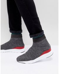 Kurt Geiger - Knitted Flexor Trainer In Grey - Lyst