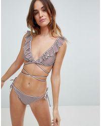Fashion Union - Bay Tie Side Bikini Bottom - Lyst