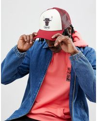d1900b426 Mitchell   Ness - Distressed Trucker Cap Chicago Bulls Exclusive To Asos -  Lyst
