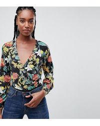 Missguided - Floral Wrap Body - Lyst