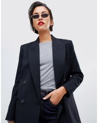 Mango - Double Breasted Blazer - Lyst
