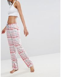 Esprit - Check Pyjama Bottoms - Lyst