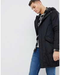 Mango - Man Padded Parka Jacket In Black - Lyst