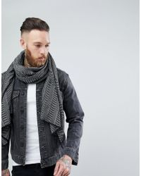 SELECTED - Selected Home Scarf In Herringbone - Lyst