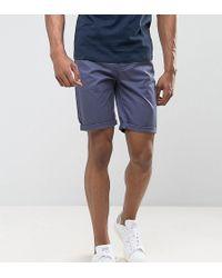 ASOS - Tall Slim Chino Shorts In Vindigo - Lyst