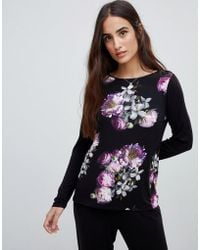 Ted Baker - B By Sunlit Floral Jersey Long Sleeve Pyjama Top - Lyst