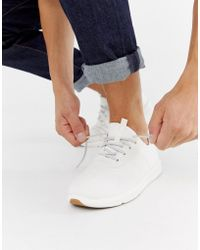 TOMS - Canvas Woven Trainer In White - Lyst
