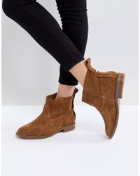 Hudson Jeans - London Odina Tan Suede Ankle Boots - Lyst