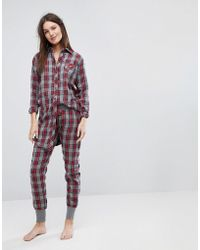 Esprit - Checked Pyjama Bottoms - Lyst
