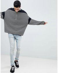 AllSaints - Oversized Jumper With Breton Stripe - Lyst